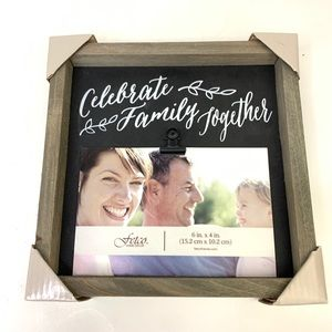 celebrate family together home decor picture frame